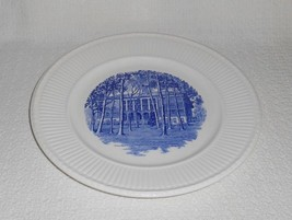 Wedgwood College of Notre Dame Maryland Baltimore College Hall Blue Trans Plate - $32.17