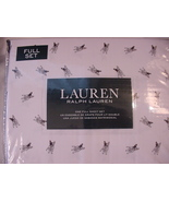 Ralph Lauren French Bulldogs/Boston Terriers on White Sheet Set Full - $77.00