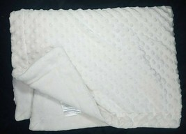 Sl Home Fashions Beige Minky Dot Baby Blanket Raised Bumps Plush Lovey White Euc - $24.38
