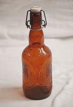 Old Vintage Grolsch Amber Brown Beer Bottle w Porcelain Swing Top Lid Barware - $14.84
