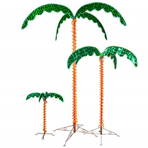 Deluxe Tropical LED Rope Light Palm Tree with Lighted Holographic Trunk ... - $117.17