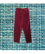 vintage petite sophisticate burgundy velvet pants size medium 6 8 8p 6p ... - $24.99