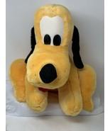 Disney World Parks Plush Pluto Large Soft Stuffed Dog Red Collar Tongue ... - $18.99