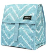 PackIt Freezable Lunch Bag with Zip Closure, AQUA TIE DYE Print - $8.91