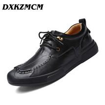 Genuine fashion Shoes Handmade Business Casual Men Men Leather DXKZMCM Autumn F5qWP