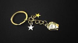 #1 Teacher - Homeroom Apple Star Silver Metal Charm Keychain Key Ring Unique Gift - $6.00