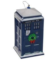 Kurt Adler Doctor Who Tardis Wreath Christmas Tree Ornament Whovian - $9.99