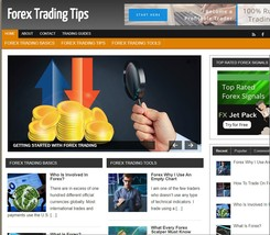 Forex Trading Tips Mobile Responsive WordPress Blog - Includes Hosting &... - $21.05
