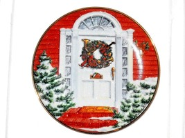FRANKLIN MINT  CHRISTMAS WREATH WEBSTER 1991 collector plate - $12.35