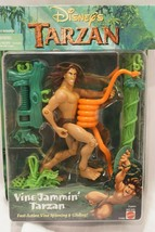 1999 Vine Jammin' Tarzan & Fire Power Clayton Action Figures/New - $24.18