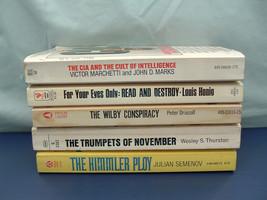 Spy thriller 5 paperback vintage hard to find titles for your eyes only,... - $27.72