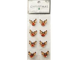 Hobby Lobby Christmas Paper Crafts Reindeer Gemstones Stickers #5321963