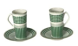 Shamrock Neiman Marcus Japan Demitasse Tea Cup Saucer Set Green St Patri... - $24.99