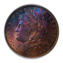1889  MORGAN SILVER DOLLAR WOW RAINBOW, KEY DATE * 243 - $122.50