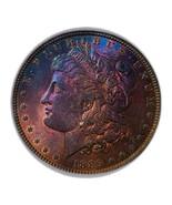 1889  MORGAN SILVER DOLLAR WOW RAINBOW, KEY DATE * 243 - $2.297,56 MXN