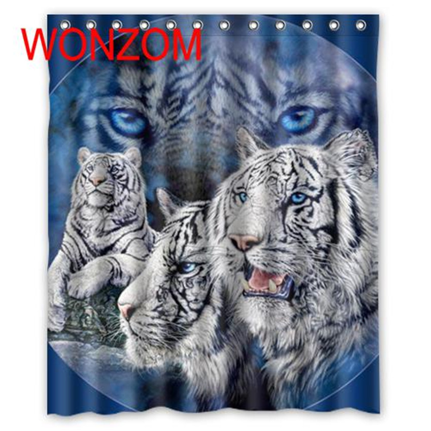 deer waterproof shower curtain lion bathroom decor horse decoration animal cortina de bano 2017