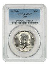 1976-D 50c PCGS MS67 (Clad) Registry Quality! - Kennedy Half Dollar - $1,231.90