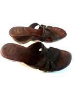 Nurture Hunter Womens 9.5M Brown Open Toe Heel Slipper Leather Shoe - $23.33