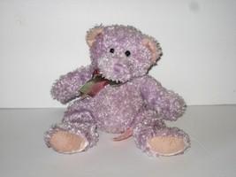 "Russ Berrie Blast from the Past Teddy Bear Sparkles Lavender Plush Bean Bag 9"" - $14.69"