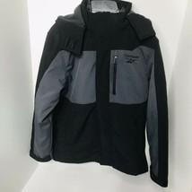 Reebok 3 in 1 Boys Winter Coat Jacket Black / Gray Size 10 / 12 Husky EUC - $49.45