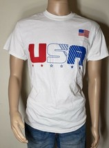 USA White T-Shirt Men 4th Of July Memorial Day Red White Blue America St... - $9.98