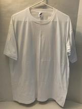 Vintage Jerzees Short Sleeve Crew Neck T Shirt White Size XL (45) NWOT - $10.09