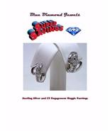 CHEAP CZ Huggie Engagement Ring Huggie Earrings Silver Plate US SELLER! - $5.99
