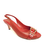 COLE HAAN Size 9 Red Leather Slingback Heels Pumps Shoes N. Air - $68.00