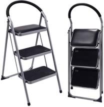 Lightweight Folding Stool Heavy Duty Non Slip Step Ladder Kitchen Bulbs ... - $60.13