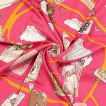 Hermes Scarf CARNETS DE BAL Silk Carre CATY LATHAM 90cm - $6.043,30 MXN