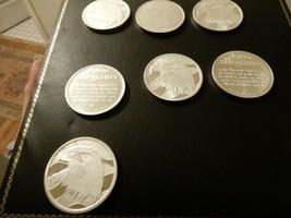 Seven .999 Fine Silver Pledge of Allegiance Rounds Bullion - $245.00