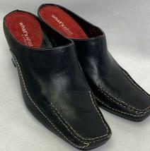 AEROSOLES Catch Up Women Black Slides Mules Heels Slip On Shoes Size 6 M - $19.80