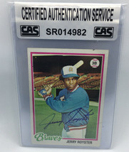 Jerry Royster 1978 Topps Autographed Baseball Card CAS - $10.99