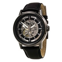 Kenneth Cole New York Men's KC1632 Skeleton Dial Automatic Black Leather Watch - $94.04