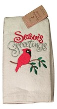Christmas Set of 2 Fingertip Towels Seasons Greetings Cardinal - $18.80