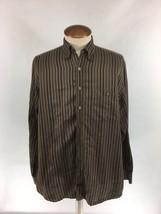 ROBERT TALBOTT Mens Button Down Casual Shirt Made In California Brown Si... - €16,28 EUR