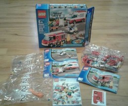 Lego City 60023 Firetruck Sealed All Manuals Box Comic #1 & #2 Parts Only - $14.94