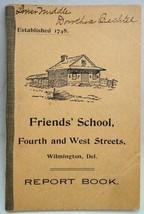1907 antique DOROTHEA BECHTEL REPORT CARD BK wilmington - $42.50