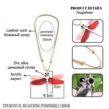 Women Dragonfly Necklace Pendant Zinc Alloy Statement Color Collar Accessories image 3