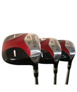 """Pour Homme avec 2 """" Idrive Rouge Carré Terrain de Golf 3 5 7 en Bois Ens... - $149.01"""