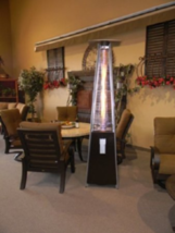 Gas Butane Outdoor Patio Fire Heater Pyramid, Fireplace Furniture Garage... - $458.97
