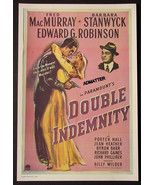 BARBARA STANWYCK MOVIE AD POSTER DOUBLE INDEMNITY 2-SIDED! - $16.39