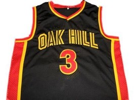 Brandon Jennings #3 Oak Hill High School Basketball Jersey Black Any Size image 1