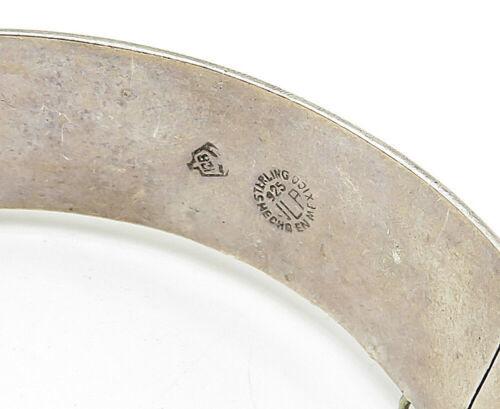 JLA MEXICO 925 Silver - Vintage Cutout Pattern Round Bangle Bracelet - B5316 image 4