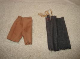 Vintage 1960s Barbie Ken Doll denim pants shorts Cloths - $9.89