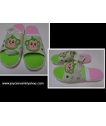 Women's Slip On Sandals Shoes Monkey Face Pink & Green Sz 8 NWT - $12.99