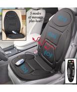 Vibrating Car Seat Cushion Massage Heat Portable Back Chair Neck Lumbar ... - $61.49