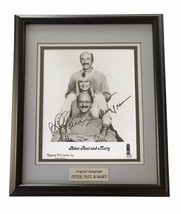 PETER PAUL MARY SIGNED 8X10 JSA COA PHOTO FRAMED AUTOGRAPH FOLK GROUP - $280.46