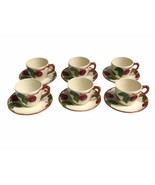 "Set of 6 Vintage Franciscan Apple Pattern Cup & Saucer Sets Made In USA 5-7/8"" - $28.05"