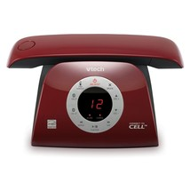 Red Retro Phone Landline Home Office Desk Expandable Headset Bluetooth T... - $83.99